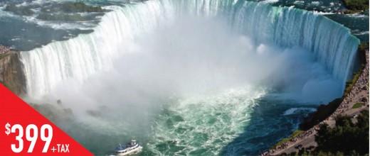 MLT5 多伦多-蒙特利尔-魁北克-尼亚加拉加东5天游