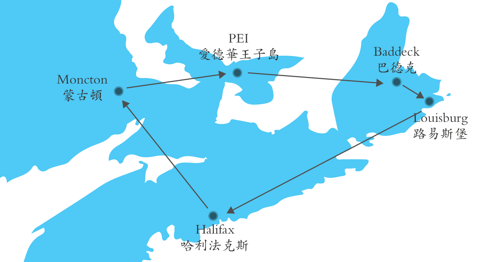 halifax to toronto map